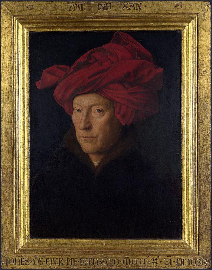 Portrait of a Man in a Turban (Jan van Eyck) with frame - Jan van Eyck - Wikipedia, the free encyclopedia