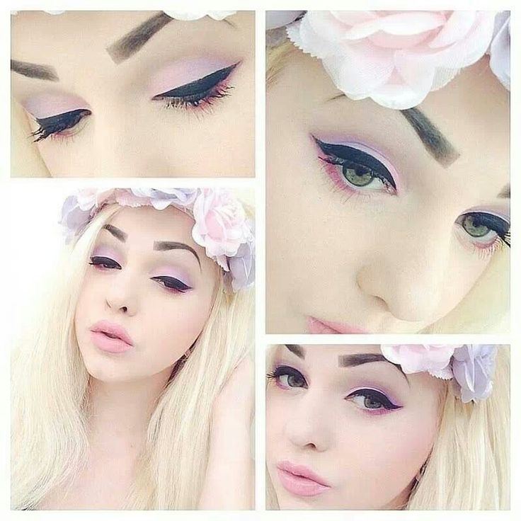 Pink pastel with a strong liner