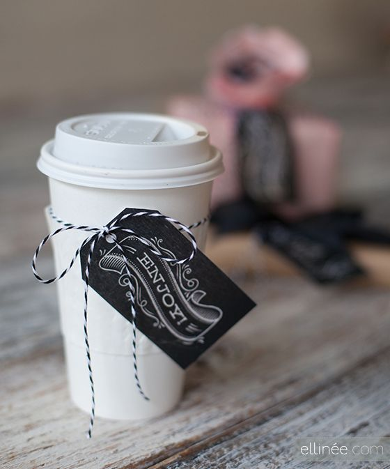 Printable Chalkboard Gift Tags | Ellinée | handcraft your life