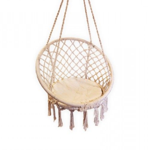 Tropicana macrame hanging chair macrame inspiration for Diy macrame baby swing
