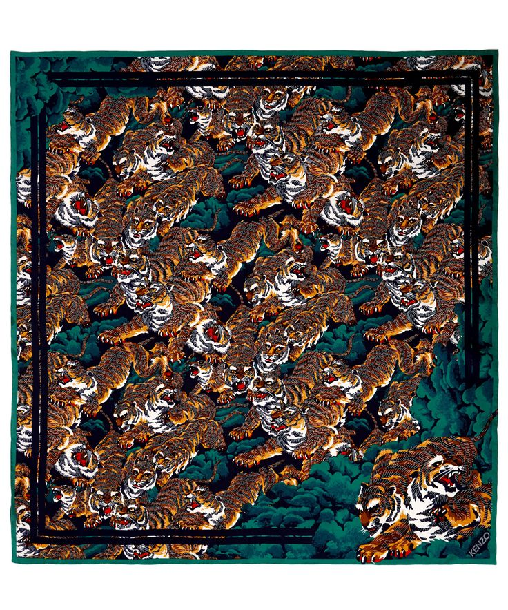 Add an Iconic tiger print #Kenzo silk scarf to your collection. Shop Kenzo online here: http://www.liberty.co.uk/fcp/categorylist/designer/kenzo #DesignerScarves