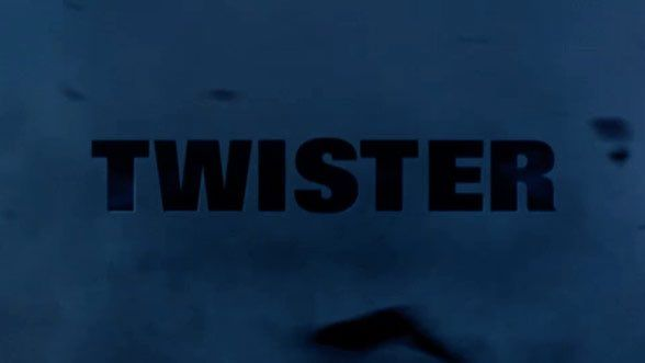Twister (1996) titles by Kyle Cooper and Garson Yu. #FontsinMotion @RobertBrownjohn  via @wayneford