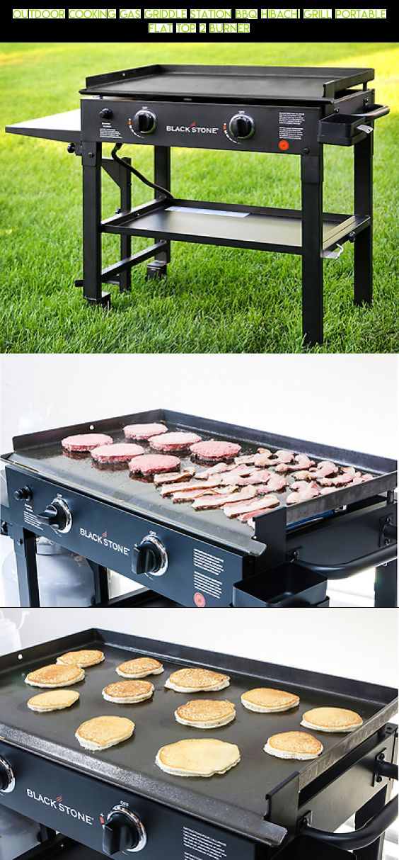 Outdoor Cooking Gas Griddle Station BBQ Hibachi Grill Portable Flat Top 2  Burner #camera #