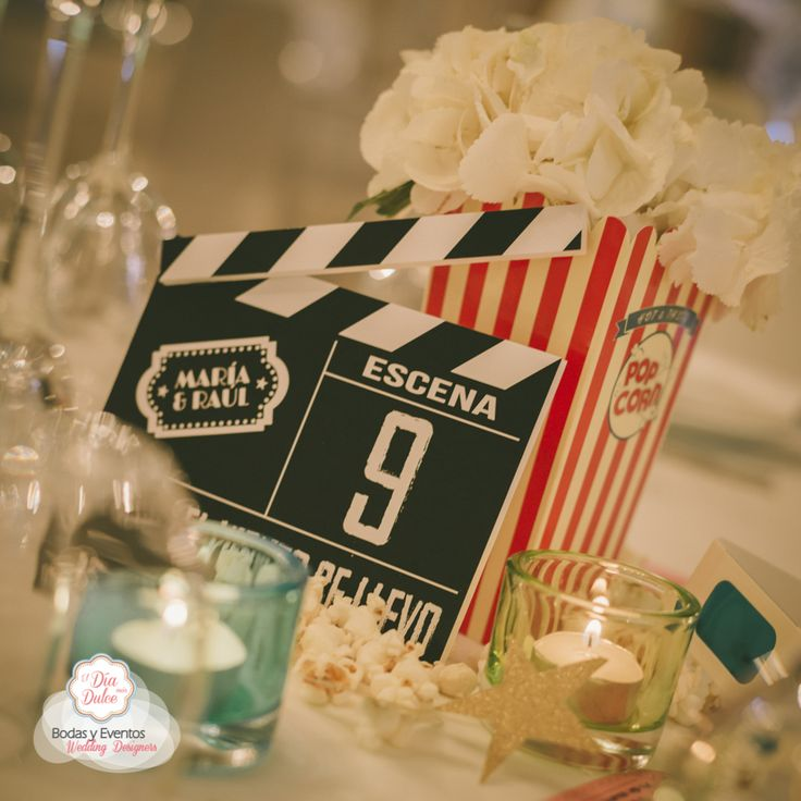 ElDiaMasDulce - Centros de mesa para una boda con inspiración de Cine