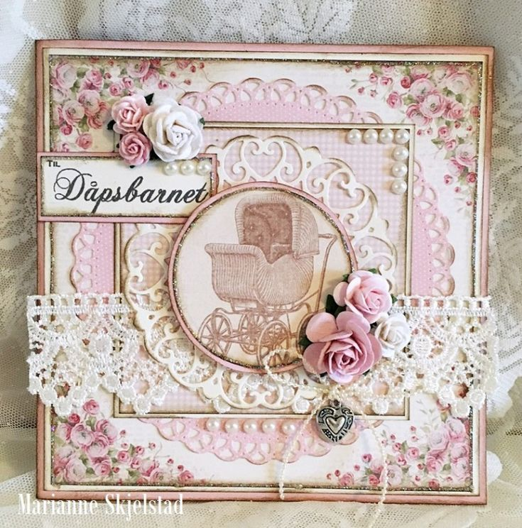 A Baptism card, the Easter Greetings and Pion Design Palette paper collection