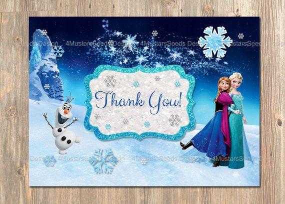 disney u0026 39 s frozen thank you card