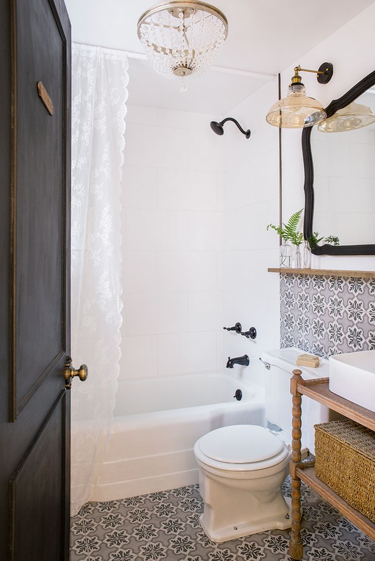 English cottage bathrooms - Downstairs Bathroom Cottage House Flip Reveal