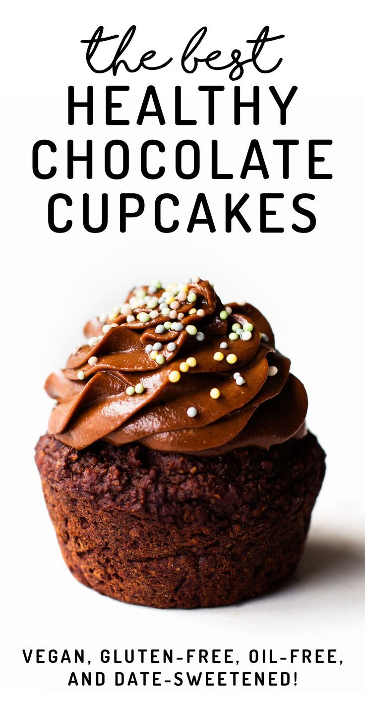 Moist, fluffy, rich, and with ingredients unlike any cake you've seen before – these Healthy Chocolate Cupcakes will blow your mind! #vegan #glutenfree #sugarfree #healthy