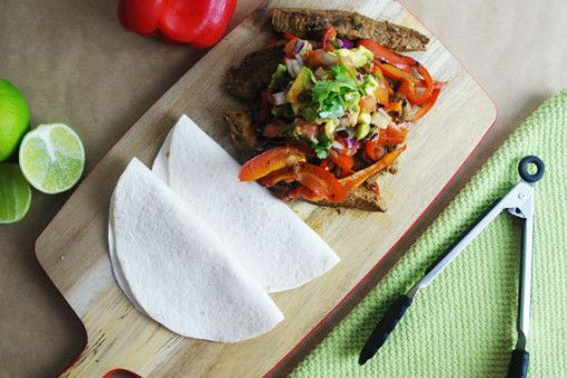 Steak Fajitas with Sizzling Capsicum and Creamy Guacamole