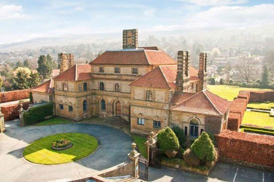 On the market: Sir Edwin Lutyens-designed Heathcote grade II-listed Arts and Crafts house in Ilkley, West Yorkshire