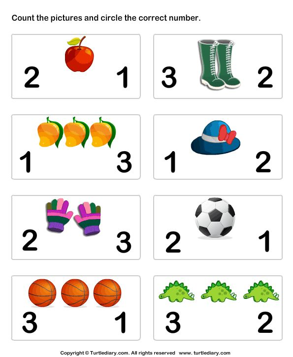 Download and print Turtle Diary's Count Pictures and Circle worksheet. Our large collection of math worksheets are a great study tool for all ages.