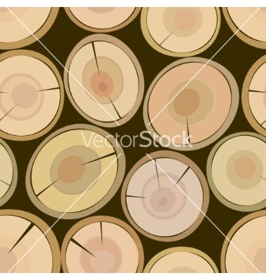 Cut log butt seamless background vector 730925 - by 100ker on VectorStock®