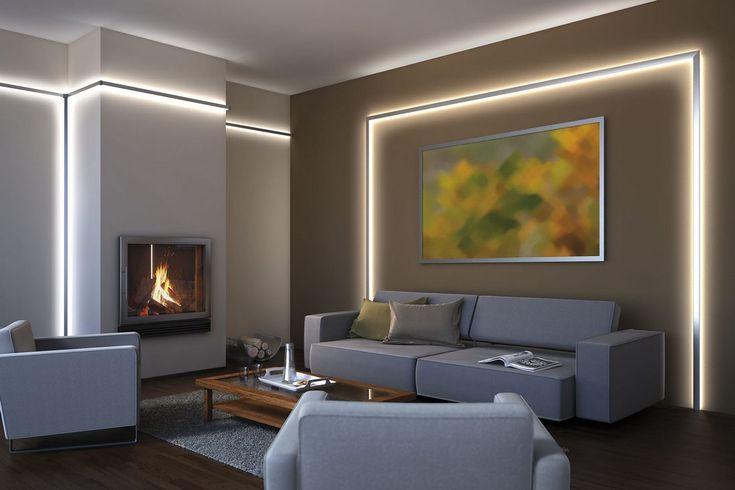 A szoba egyenletes és szinte teljesen árnyékmentes megvilágítását érhetjük el, ha az indirekt világítás mellett döntünk.