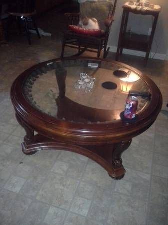Round Wood And Glass Coffee Table 40 Raleigh Craigslist