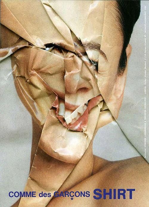 This image morphs and distorts a photograph therefore manipulating the face. It reminded me of my message an the idea of digital manipulation. Paper is perfect for manipulating and distorting an image so this is an idea I could take forward to enhance my message.