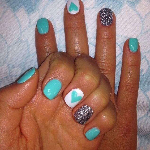 Tiffany Blue Gel Nail Polish: 1000+ Ideas About Blue Gel Nails On Pinterest