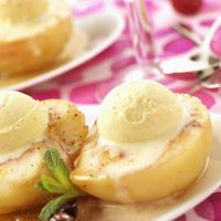 Découvrez la recette Pêches Melba sur cuisineactuelle.fr.