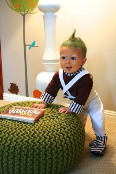 Umpa lumpa baby costume: http://www.stylemepretty.com/living/2016/10/15/50-genius-costume-ideas-for-everyone-from-your-puppy-to-your-squad/