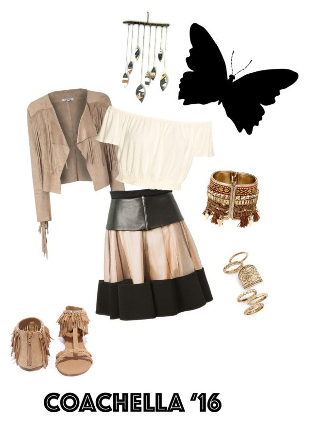"""""""relaxella"""" by kayearnold on Polyvore featuring Glamorous, David Koma, Qupid and Topshop"""