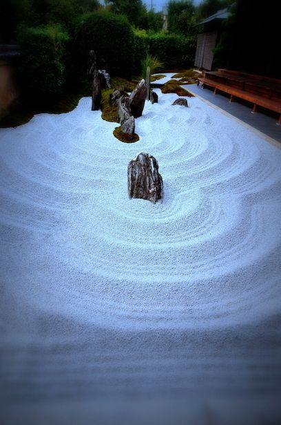 Rock garden at Daitokuji Temple, Zuihoin in Kyoto Japan. - 大徳寺 瑞峯院 枯山水庭園, 京都  日本