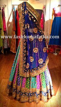 Marvelous Multicolor Lehenga Choli | Bridal Lehenga Choli Online. 31k