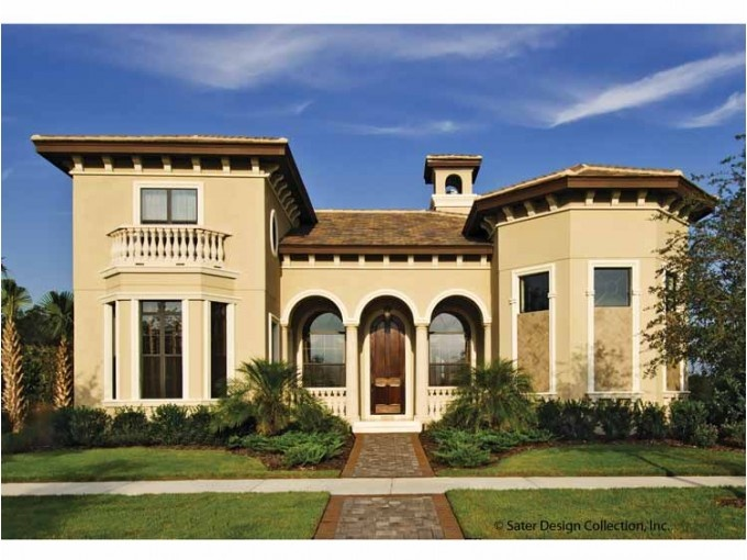 Mediterranean Style House Plan 4 Beds 3.5 Baths 3142 Sq