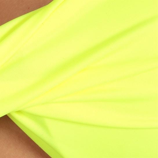 Haut de maillot de bain bandeau twisté jaune #Fluo #Pimkie