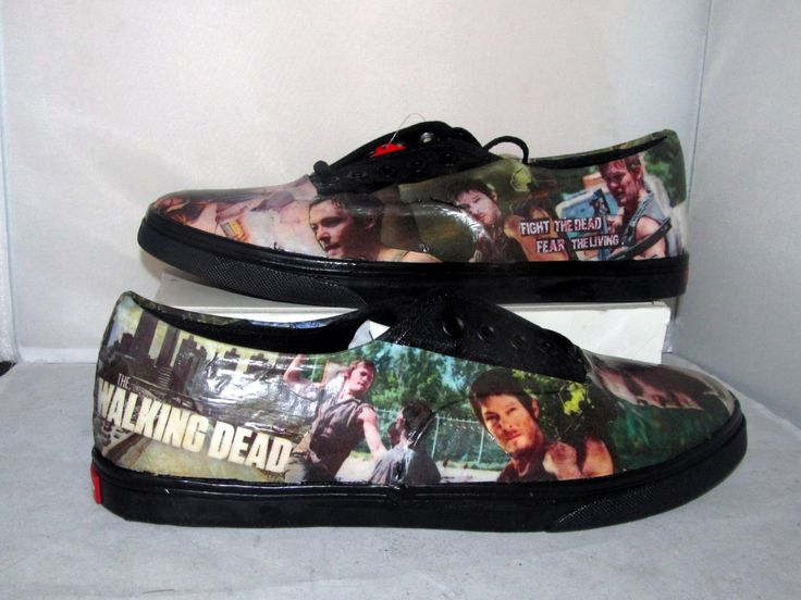 The Walking Dead Daryl Dixon Zombie Vans Made to by custombykylee, $90.00