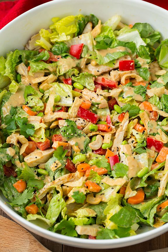 Thai Chicken Salad with Orange Peanut Dressing - Cooking Classy