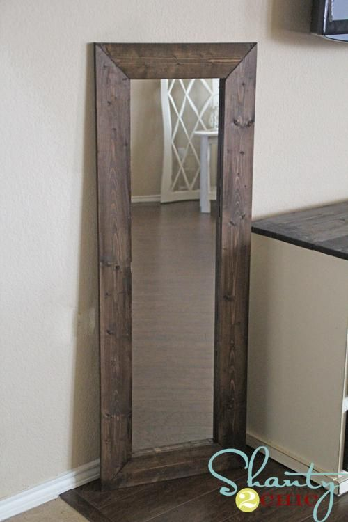 DIY Mirror Home Decor Use This Type Wood For Bathroom