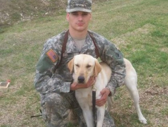 MWD Sgt. Cooper with Cory - RIP