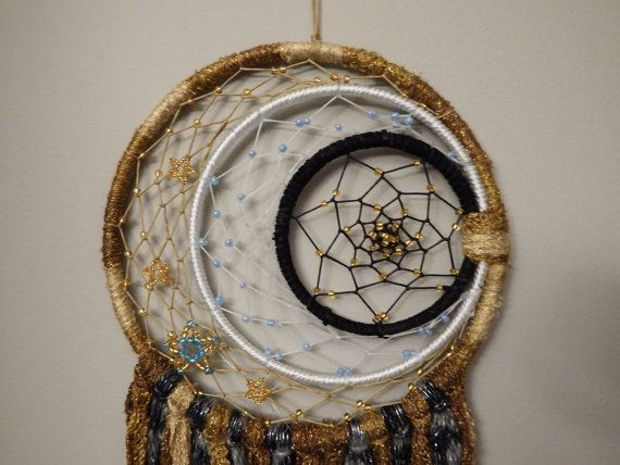 Ring Around The Moon Stardust Triple Ring Dream Catcher