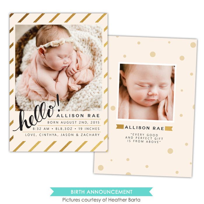 72 best birth announcement templates images – Birth Announcement Photoshop Template