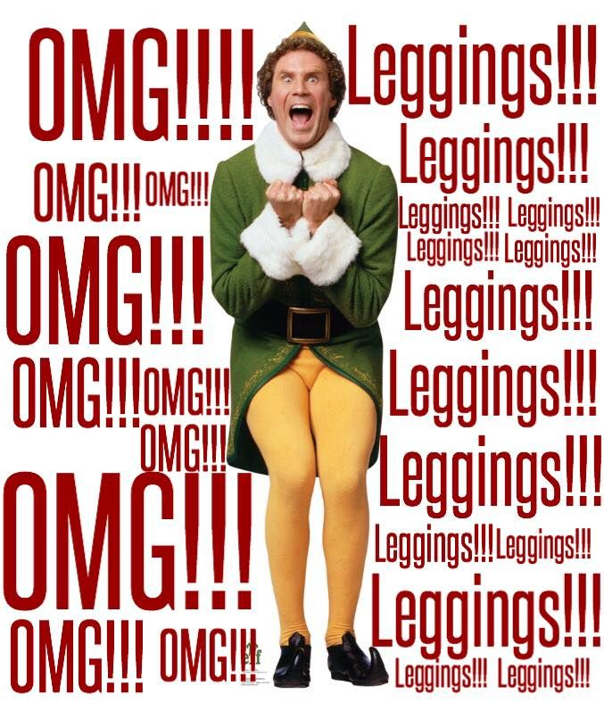 OMG LULAROE CHRISTMAS LEGGINGS!!!! Buddy the Elf knows what's up!!