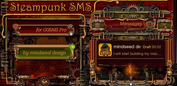 Steampunk go SMS Messenger