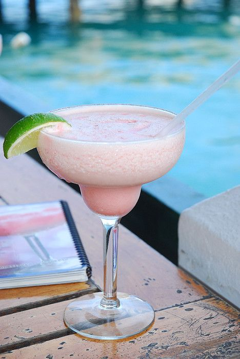Pink Sand Margarita: 3/4 oz. Liqueur, raspberry, 1 1/2 oz. Rum, white, 3 oz. Daiquiri Mix, strawberry, 3 oz. Piña Colada Mix, 6 cubes Ice  Combine daiquiri mix, pina colada mix, & rum in a blender with ice. Pour raspberry liqueur into bottom of hurricane glass, then top with blended mixture. Add an extra splash of raspberry liqueur to the top. Garnish with a lime wedge. CHEERS!: Margaritas Glasses, Bermudas Ahhhhhhhh, Pink Sands, Blenders, White Horses, Drinks Cocktails Libations, Raspberries Liqueurs, Sands Margaritas, Girly Drinks