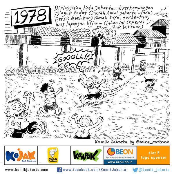 "Sekarang Lapangan Bola Dimana? dicuplik dari buku komik ""Football's Coming Home"" by @mice_cartoon #KomikJakarta https://t.co/gDQ3JK4Xgm"