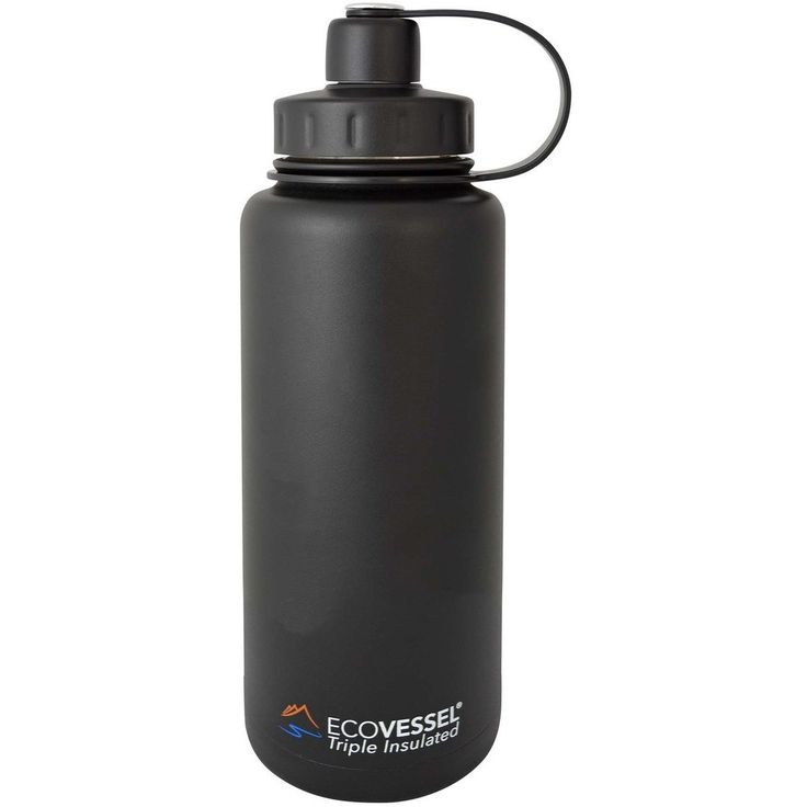 32 Oz Stainless Steel Water Bottle | Triple Insulated | Screw Cap | BOULDER by Eco Vessel