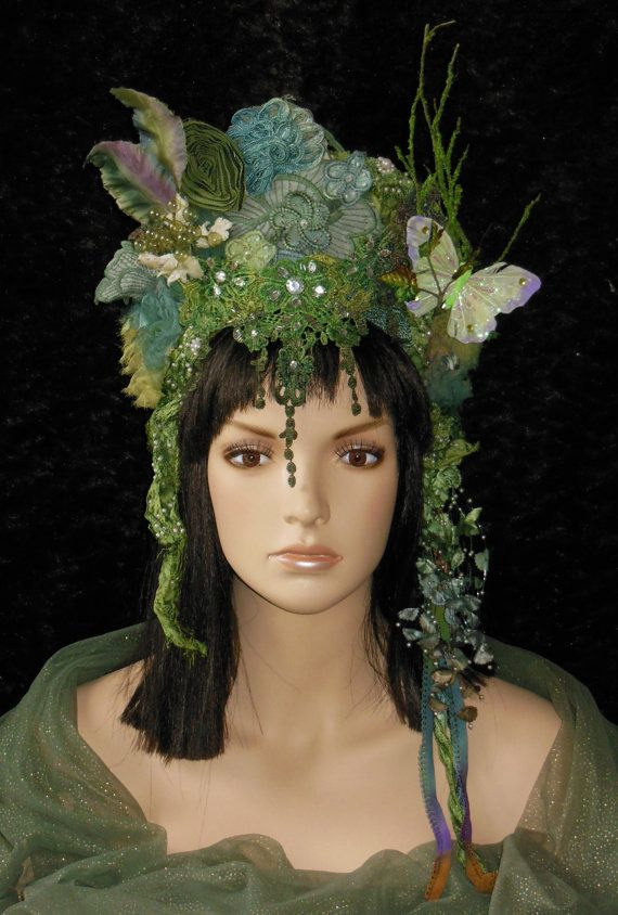 Fantasy Fairy Nymph Woodland Pixie Midsummer Nights by MIMSYCROWNS, $250.00