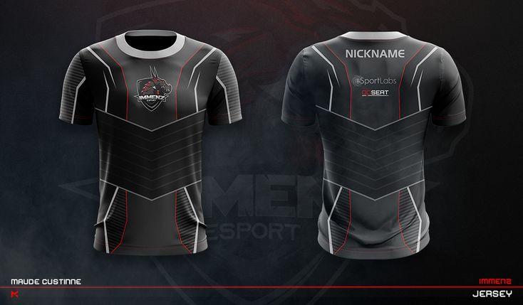 Download JERSEY ESPORT TEAM MOCKUP on Behance | Sport shirt design ...