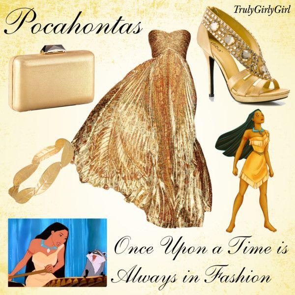 """Disney Style: Pocahontas"" by trulygirlygirl on Polyvore.    Sexy Pocahontas!!! :D"