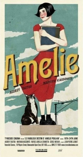 Amelie... Audrey Tautou. Amelie alternative classic movie poster. #Amelie