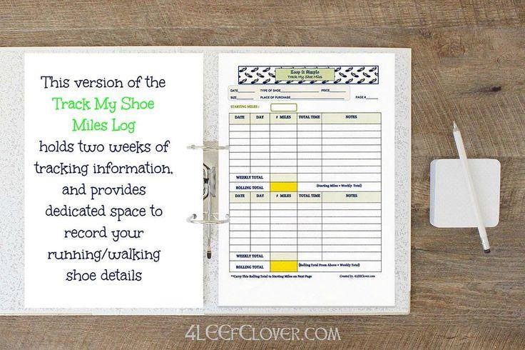 Printable Running Log Running Journal Track My by BucketListShop