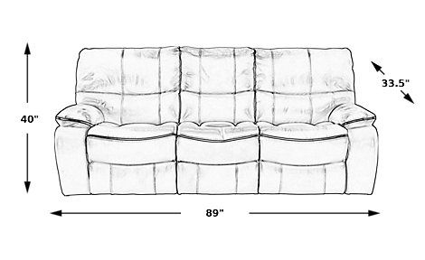 Cindy Crawford Home Gianna Brown Leather Reclining Sofa. $1,199.99. 89W x 33.5D x 40H. Find affordable Reclining Sofas for your home that will complement the rest of your furniture.