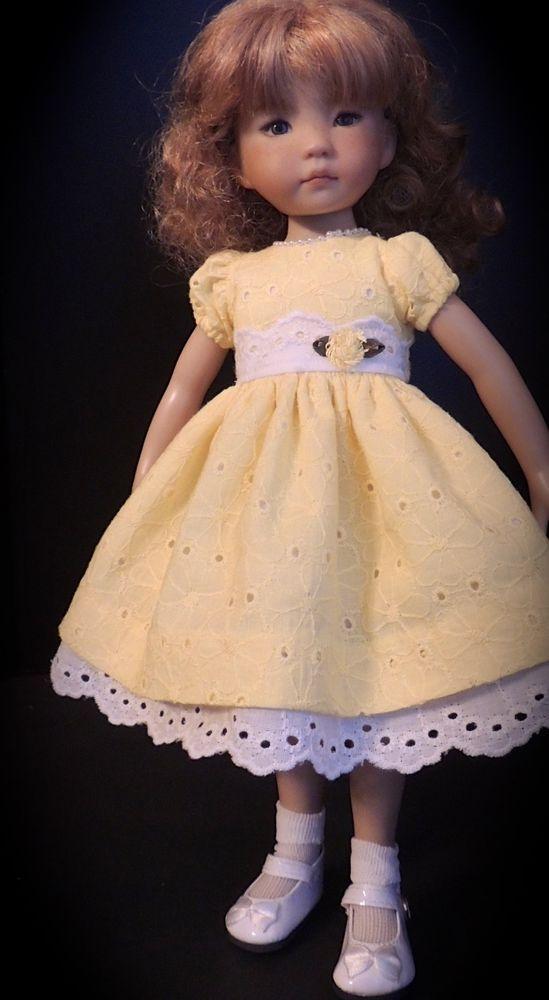 """Lemon Meringue Dress fits 13"""" Little Darling by Dianna Effner"""