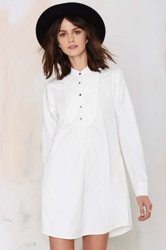 This tuxedo inspired shift will button-up your wardrobe for summer with the #lwd you've been looking for.