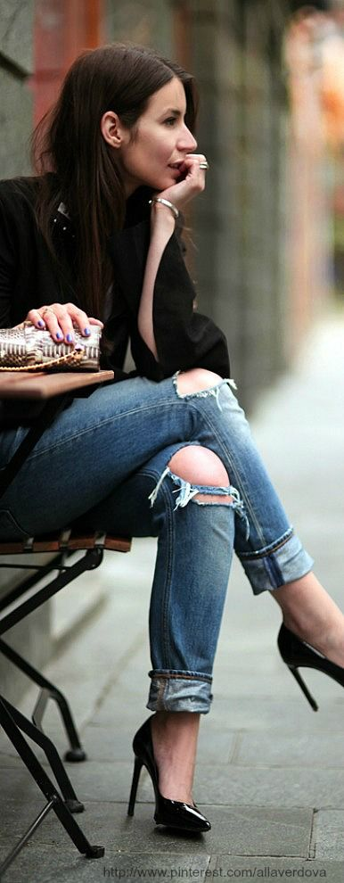 Street style - im really starting to fall for patent shoessss