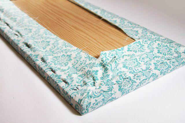 Process 4 for a tabletop ironing board diy tutorial via lilblueboo.com