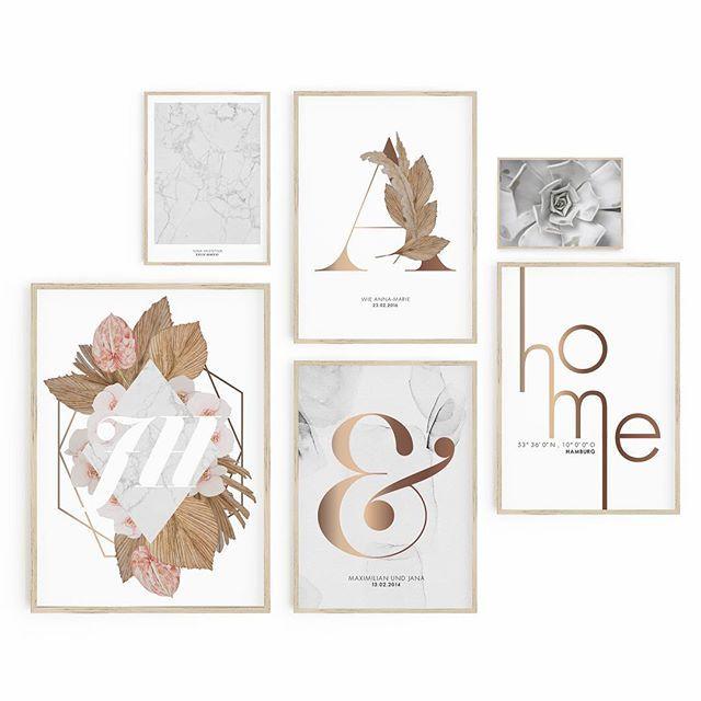 Verleihe deinen Wänden einen ganz besonderen Look, indem du dir deine ganz eigenen Prints aussuchst und zusammenstellst.  Viele unserer Prints sind p…