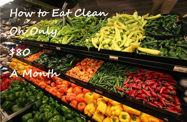Tips for eating Clean on a Budget with detailed 1 month meal plan and grocery list.